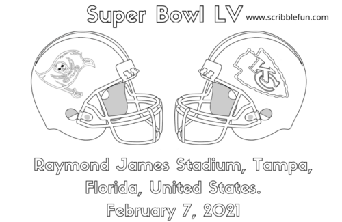 Super Bowl 2021 Coloring Pages