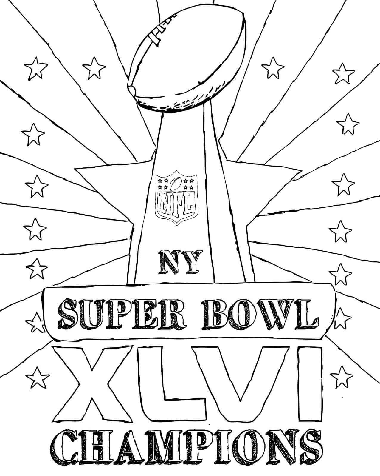 15 Free Super Bowl Coloring Pages