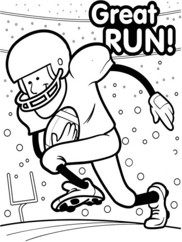 Super Bowl Coloring Pages Free Printable