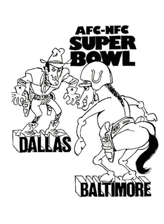 Super Bowl Coloring Pictures To Print