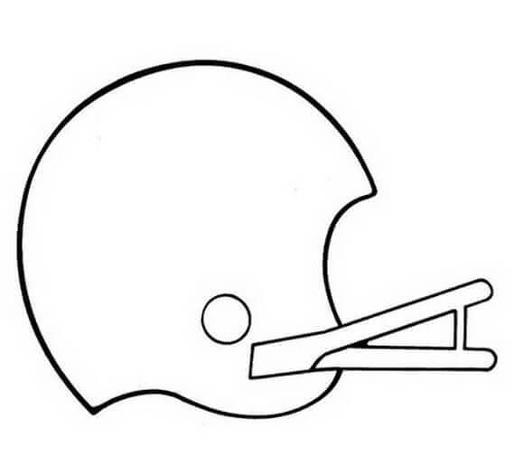 Super Bowl Helmet Coloring Page