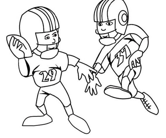 Super Bowl Players Coloring Image