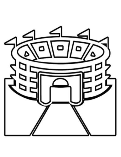 Super Bowl Stadium Coloring Page