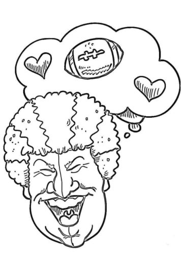Super Bowl Sunday Coloring Pages