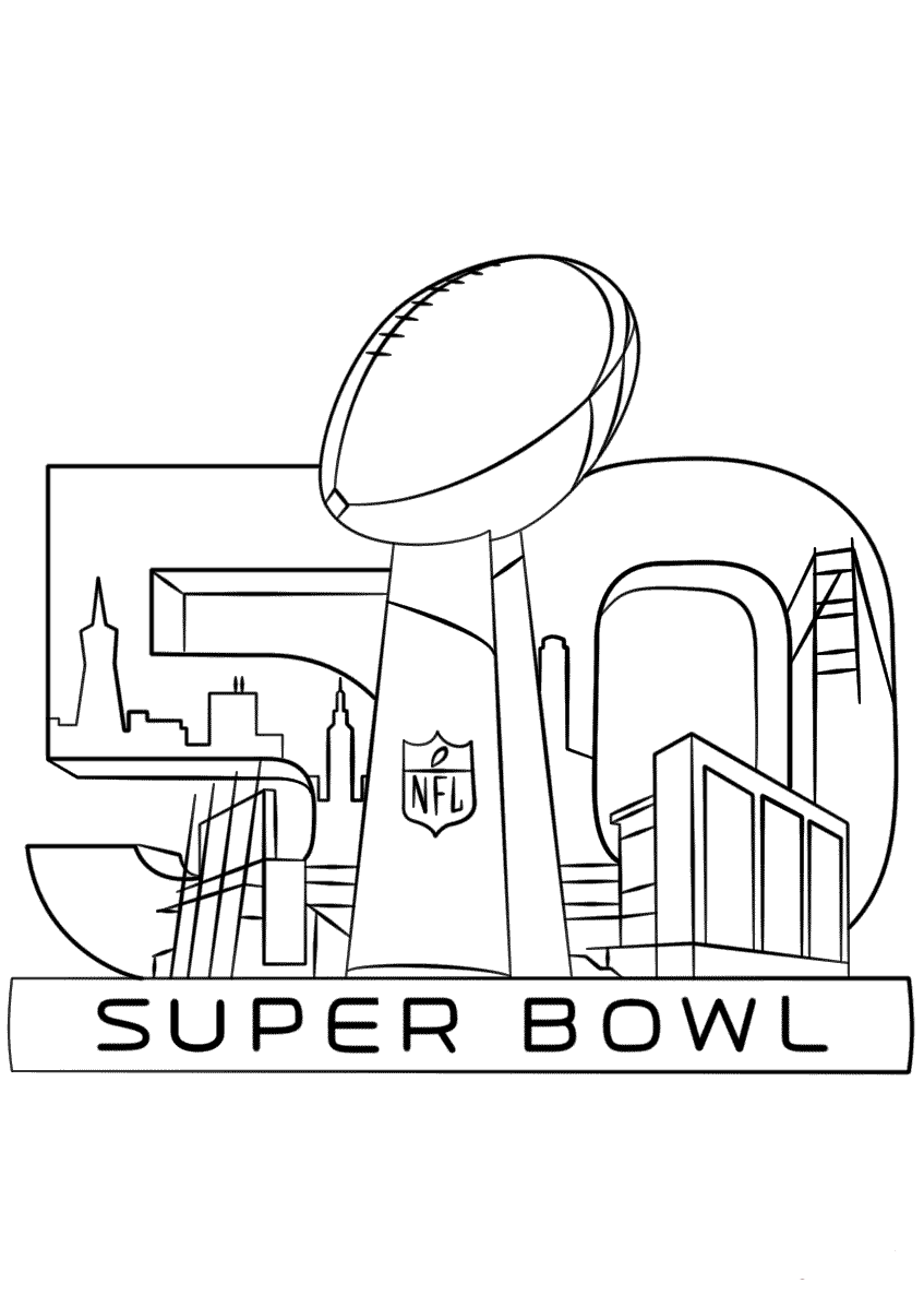 Super Bowl Trophy Coloring Page
