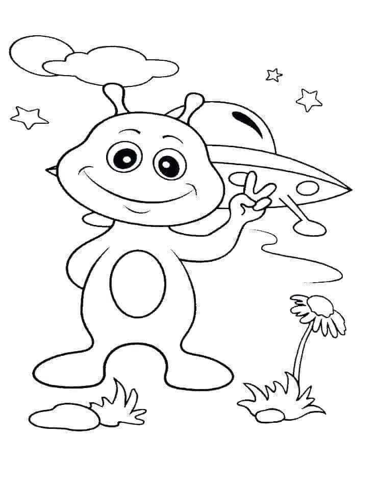 Alien Coloring Page