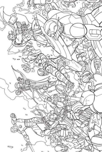Avengers 2012 Coloring Page