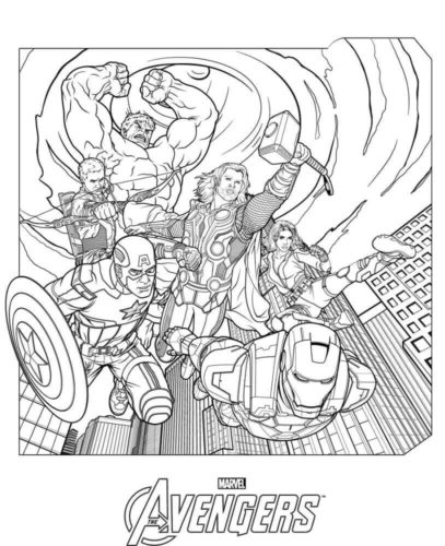 Avengers Film Coloring Page
