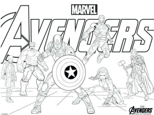 Avengers Infinity War Coloring Page