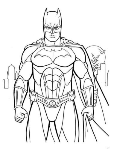 Batman Coloring Images