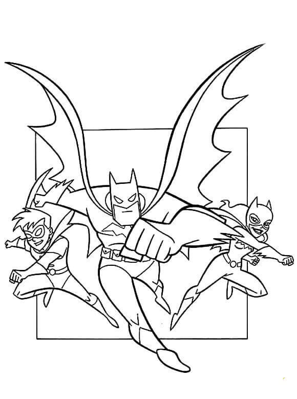 Batman Robin And Catwoman Coloring Page