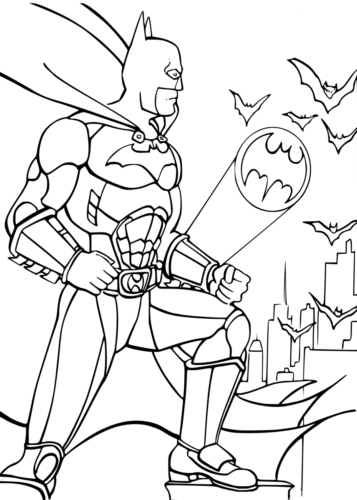 Batman Signal Coloring Page
