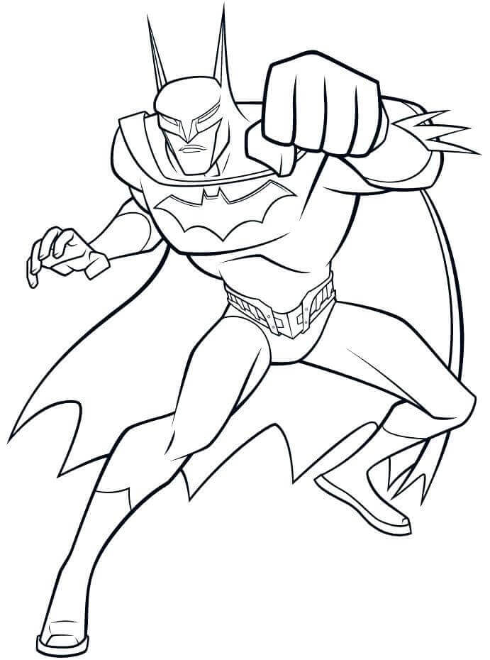 Batman Superhero Coloring Page