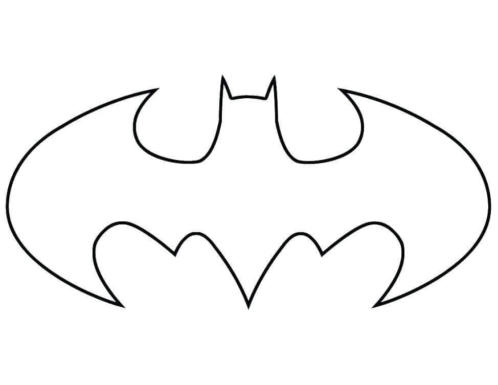 Batman Symbol Coloring Page