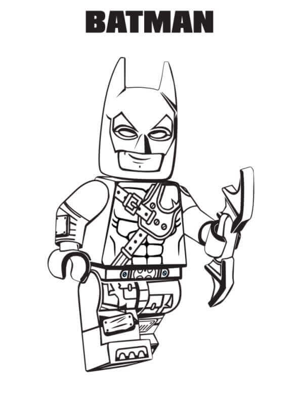 Batman from The Lego Movie 2 Coloring Page Free