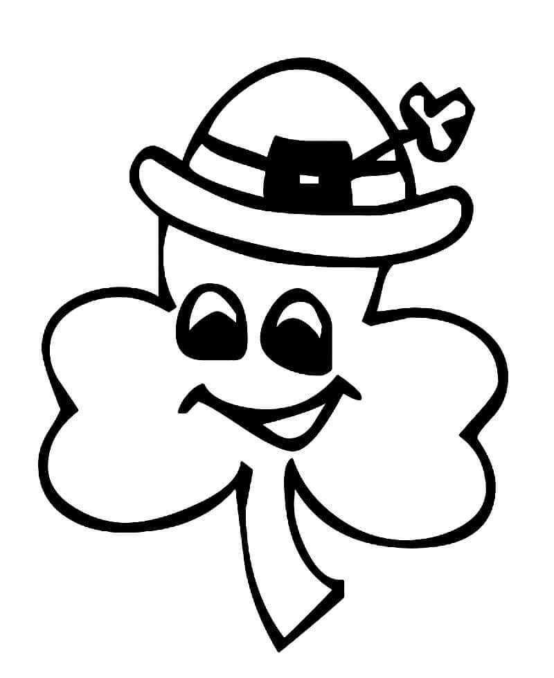 Cute Shamrock Coloring Page