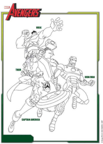 Free Printable Avengers Coloring Pages