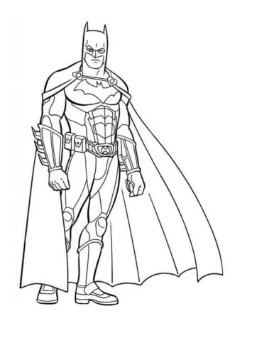 30 Free Batman Coloring Pages Printable