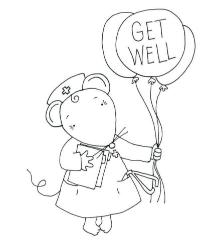 This is a photo of Refreshing Free Printable Get Well Cards to Color