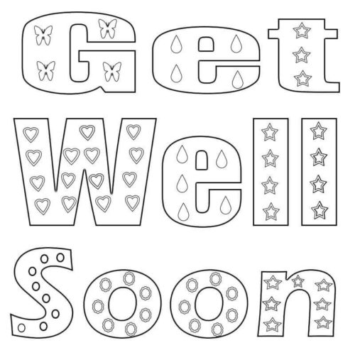 Free Printable Get Well Coloring Page