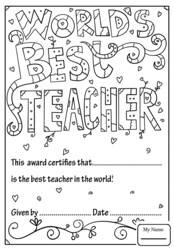 25 Free Teacher Appreciation Week Coloring Pages Printable
