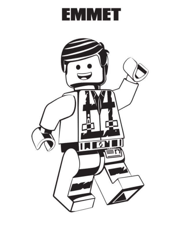 Free Printable The Lego Movie 2 Coloring Page Emmet