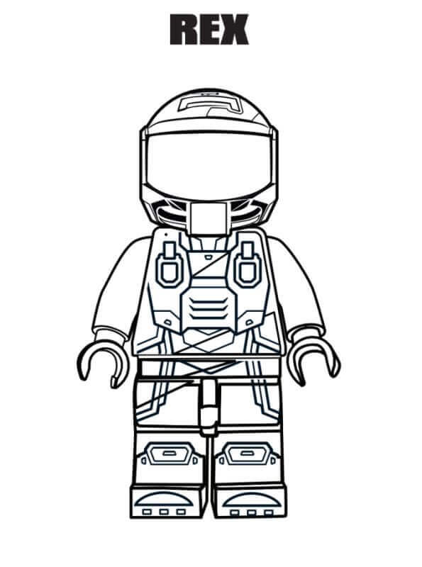 Free Printable The Lego Movie Second Chapter Coloring Page Rex