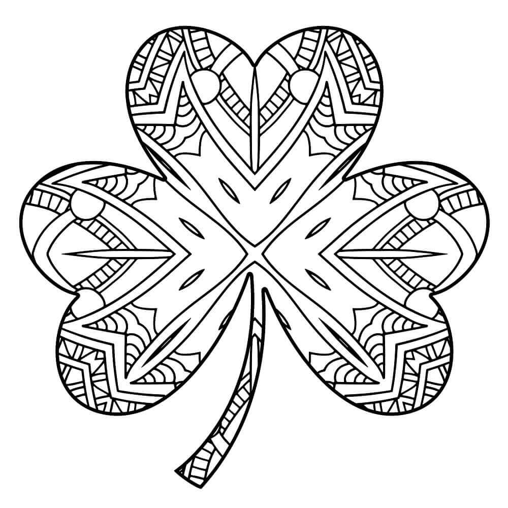 Free Shamrock Coloring Pages