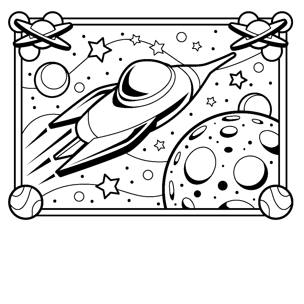 Free Space Coloring Pages