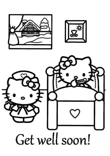 Get Well Soon Coloring Pages A4