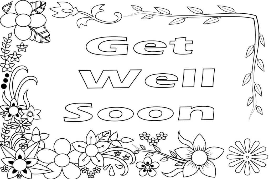 Get Well Soon Coloring Pages Printable