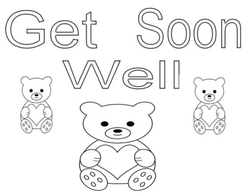 Get Well Soon Coloring Pictures To Print