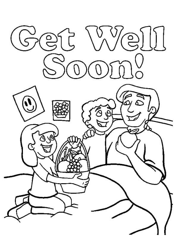 Get Well Soon Dad Coloring Page