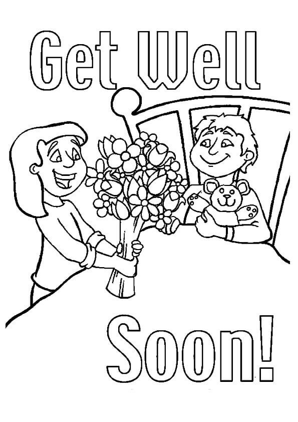 Get Well Soon Friend Coloring Page