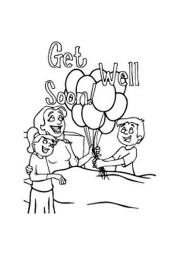 Get Well Soon Mom Coloring Page
