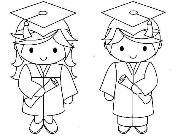 It is a picture of Remarkable Preschool Graduation Coloring Pages