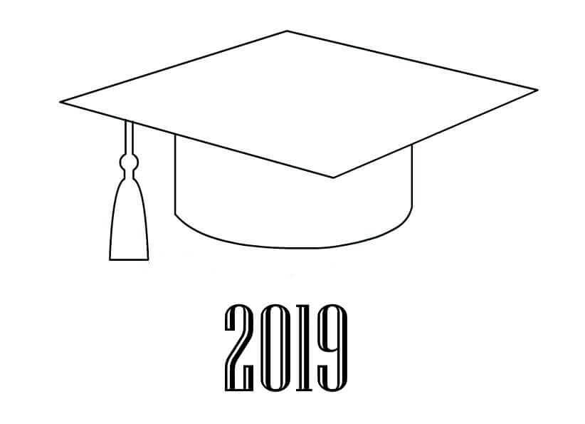 Graduation 2019 Coloring Page