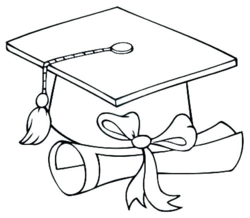 Graduation Essentials Coloring Page