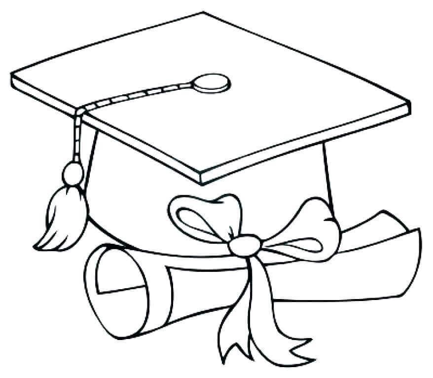 Graduation Essentials Coloring Page