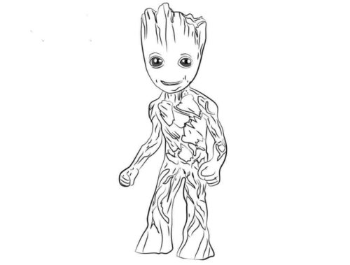 Groot Avengers Infinity War Coloring Page