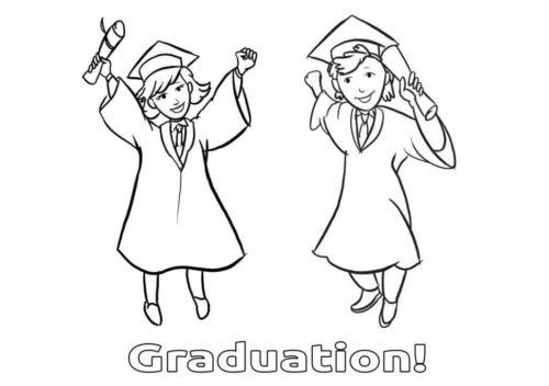 Happy Kindergarten Graduation Day Coloring Page