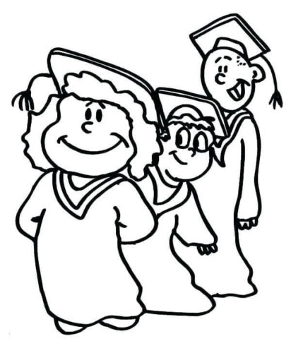 Kindergarten Graduation Day Coloring Pages Printable