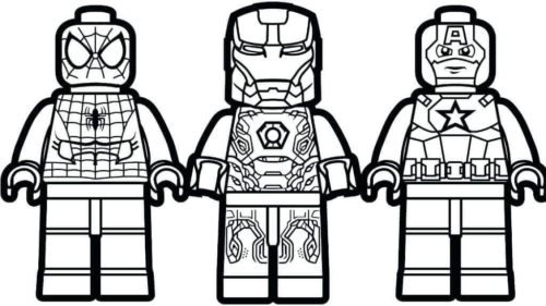 Lego Avengers Coloring Pictures To Print