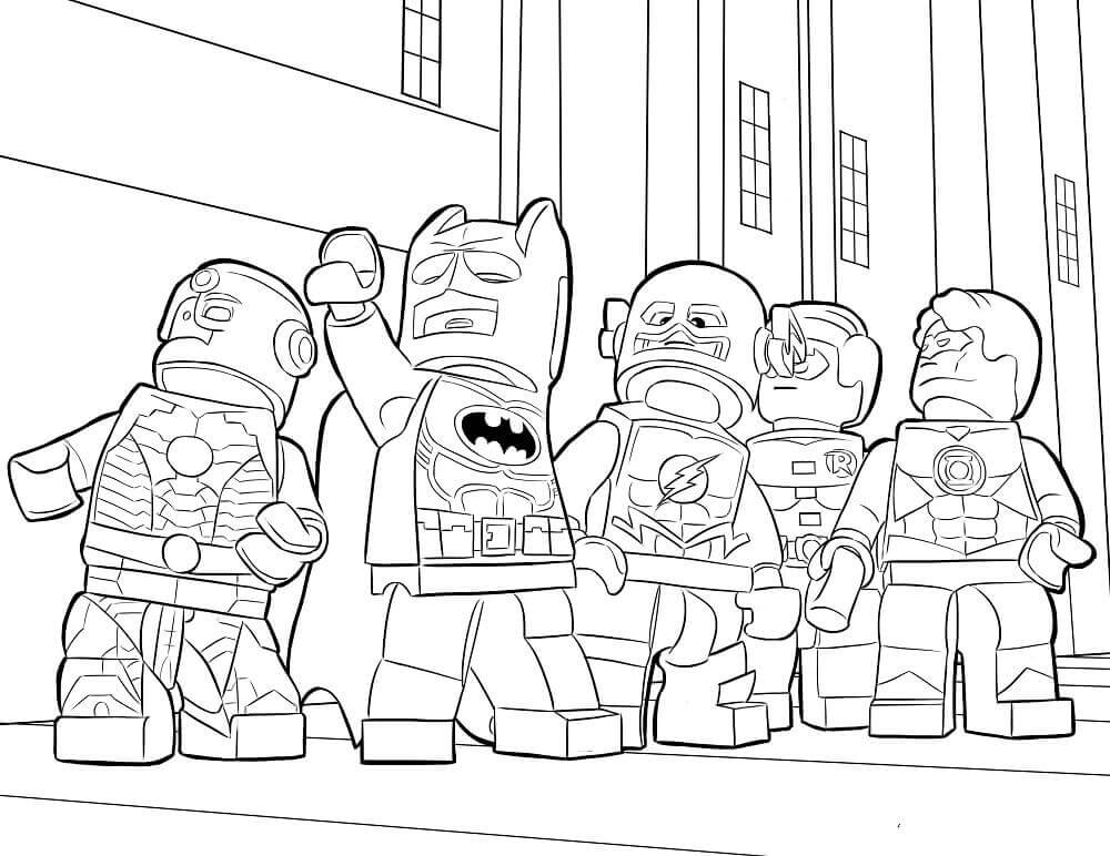 Lego Batman Coloring Page Printable