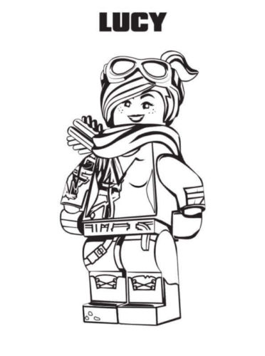 Lucy from The Lego Movie 2 Coloring Picture To Print