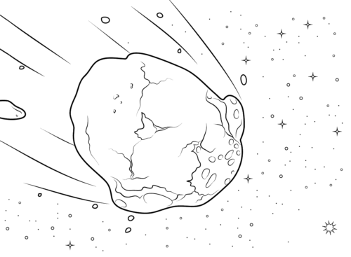 Meteor Coloring Page