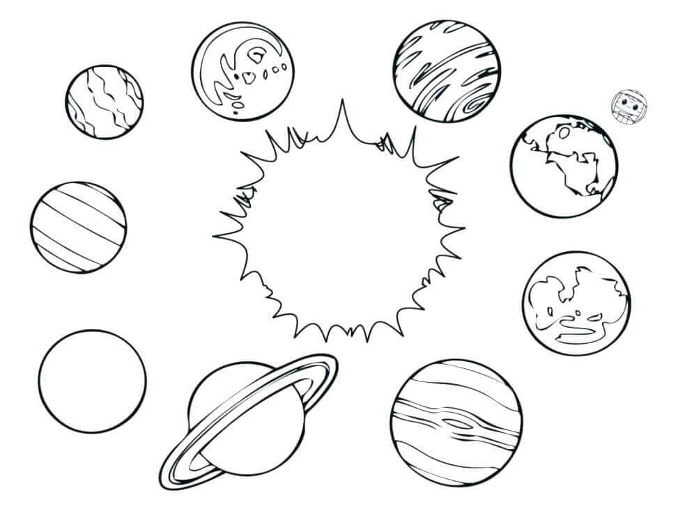 Name The Planets Coloring Page