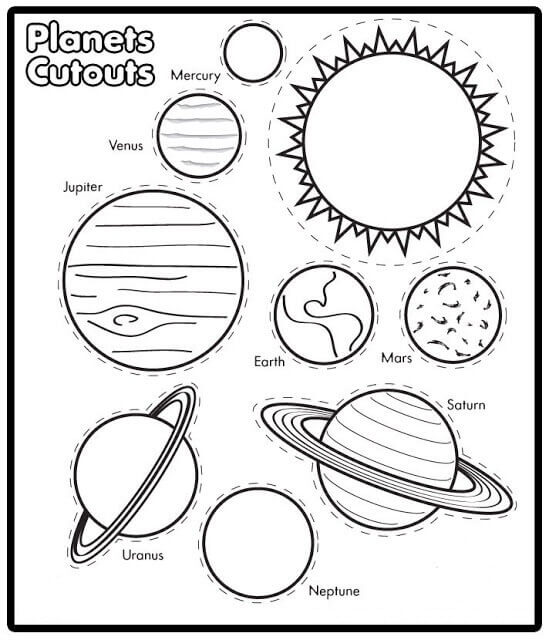 Planets Worksheet For Kids