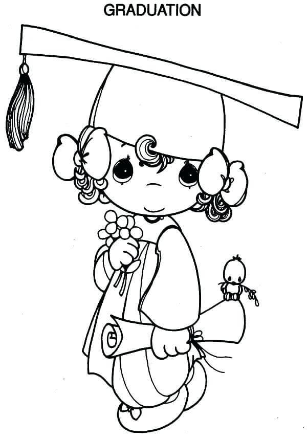It is an image of Trust Preschool Graduation Coloring Pages