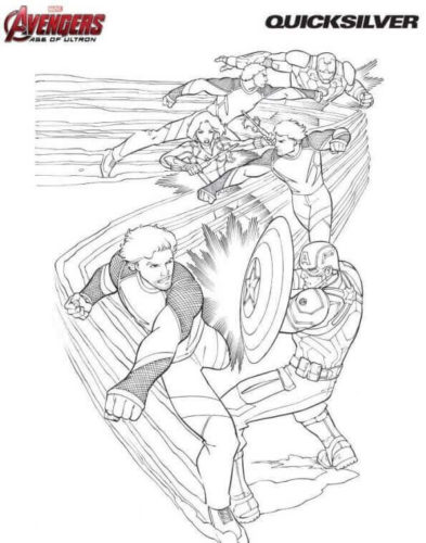 Quicksilver Coloring Page